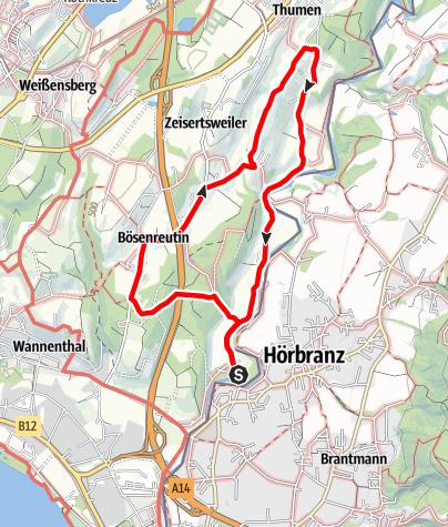 Karte / Streuobstwanderweg Sigmarszell, Leiblachtal - Feuer und Flamme