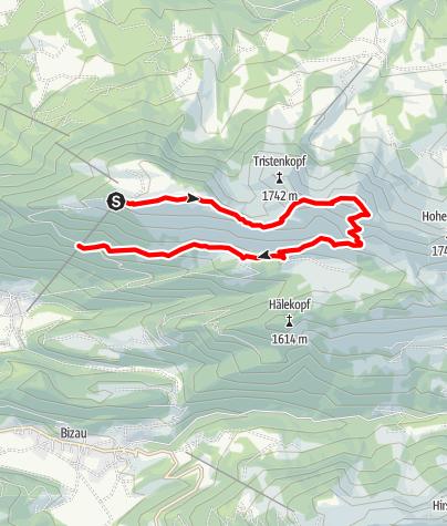 Karte / Bezau | Winterstaude