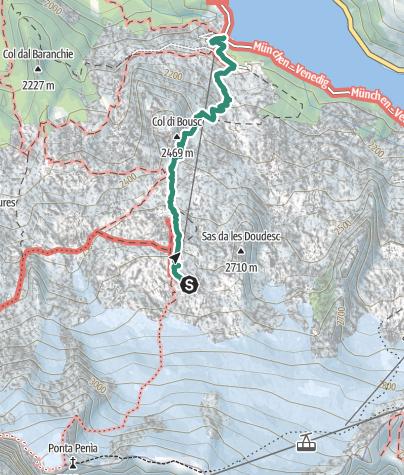 Map / Rifugio Pian dei Fiacconi