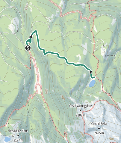 Map / Trek to Lago Cece