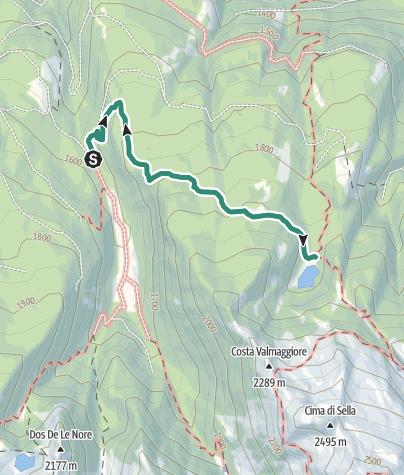 Map / Trek to Lago Cece