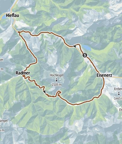 Map / Große Moutainbikerunde - Eisenerz - Radmer - Radmerer Hals - Eisenerzer Ramsau - Eisenerz