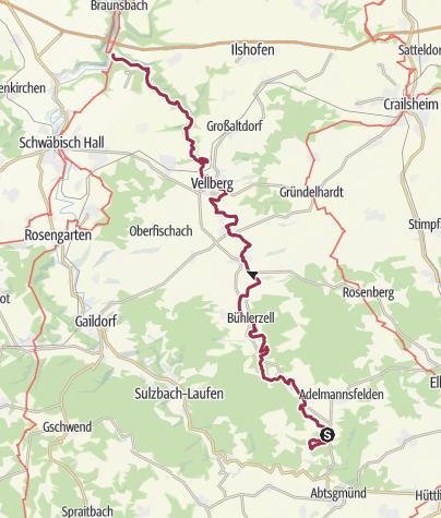 Karte / Bühlertalwanderweg - Von der Quelle bis zur Mündung
