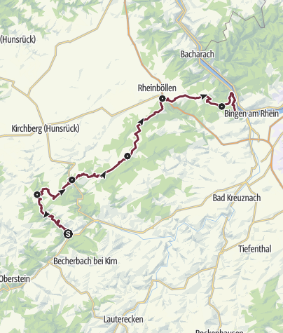 Karte / Soonwaldsteig - Gesamtstrecke