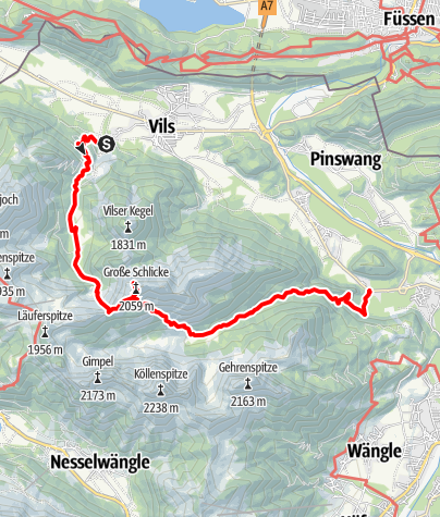 Karte /  Schlicke (2059 m)