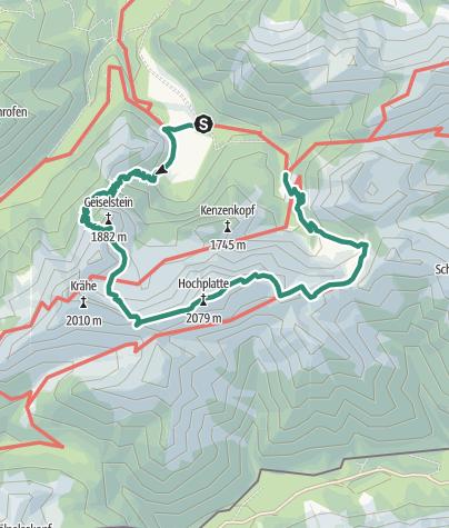 Map /  Hochplatte (2082 m)