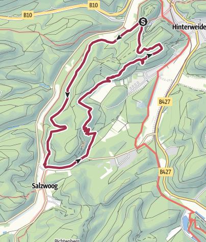 Karte / Hinterweidenthaler Teufelstisch-Tour