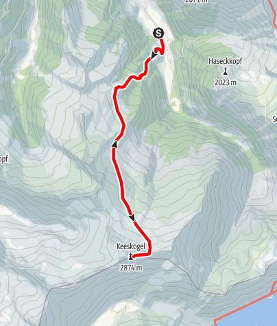 Karte / Hüttschlag: Keeskogel
