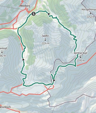 Map / Mindelheimer Hütte und Geißhorn