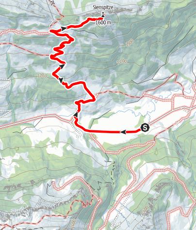 Karte / Bezau | Schönenbach - Sienspitze