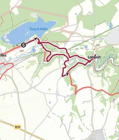 Karte / Im Wald von Blaimont – Zum See von Virelles