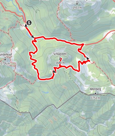 Karte / Schlagstein (1680 m)
