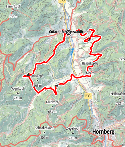 Karte / Genießerpfad - Gutacher Tälersteig