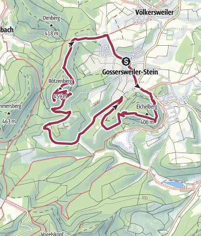 Karte / Gossersweiler-Stein Felsenweg