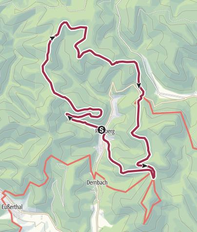 Karte / Ramberg - Drei Burgen Weg