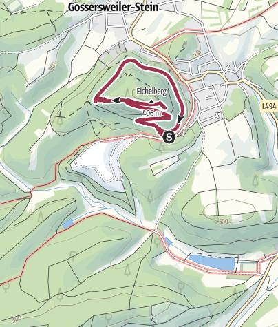 Karte / Gossersweiler-Stein Eichelbergweg