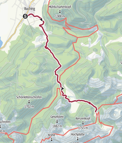 Map / Tour Buching-Kenzenhütte