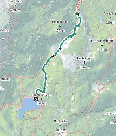 Map / Sentiero delle Glare
