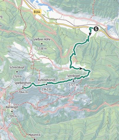 Karte / Spielberghorn