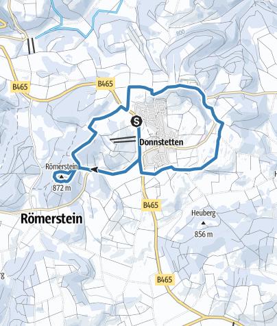 Karte / Loipe rund um den Römerstein in Römerstein-Donnstetten