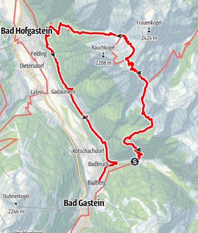 Karte / Gamskarkogel