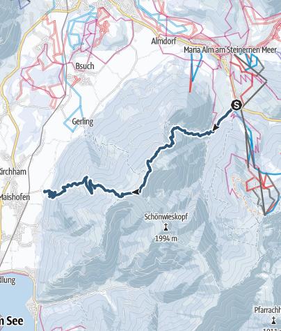 Karte / Maishofen über Schwalbenwand
