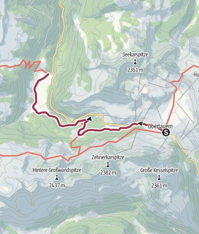 Karte / Obertauern - Johanneswasserfall - Gnadenalm