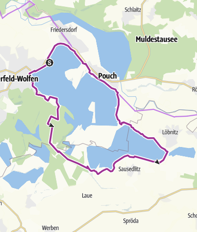 Karte / Goitzschesee - Rundweg