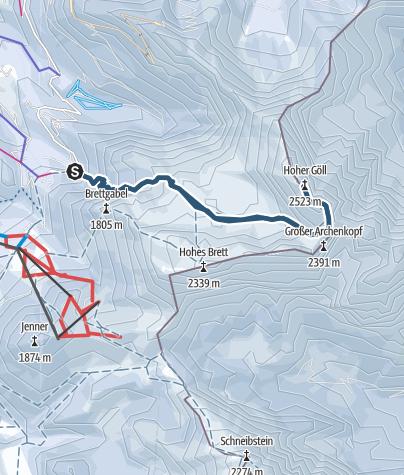 Karte / Skitour auf den Hohen Göll