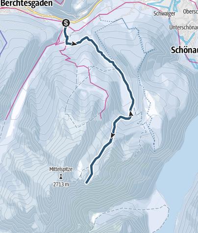 Karte / Skitour: Watzmannkar und 3. Kind
