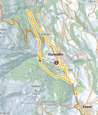 Map / 613 Churwaldner Tour