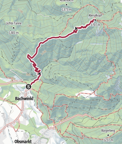 Map / Peter Wiechenthaler Hut