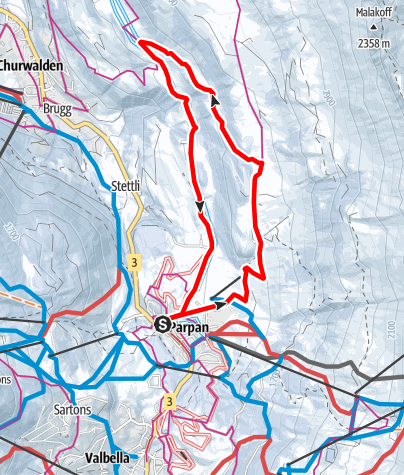 Map / 207 Mittelberg-Weg Parpan