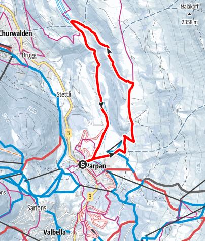 Map / 207 Mittelberg Parpan