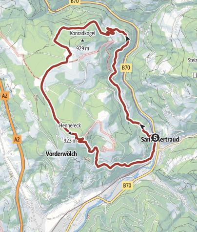 Karte / Frantschach-St. Gertraud: Erzwanderweg 1