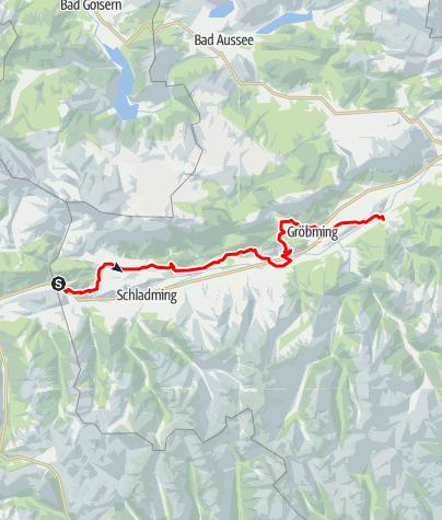 Karte / Panoramaweg 100 - Etappen nördlich der Enns