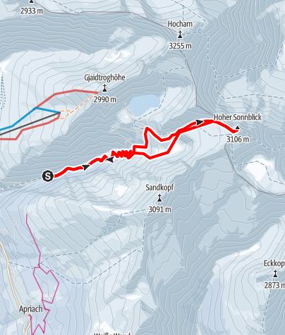 Karte / Sonnblick von Heiligenblut/Fleißtal