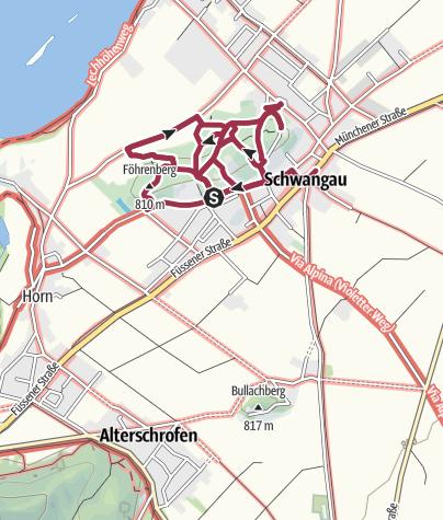 Karte / Spaziergang im Kurpark Schwangau