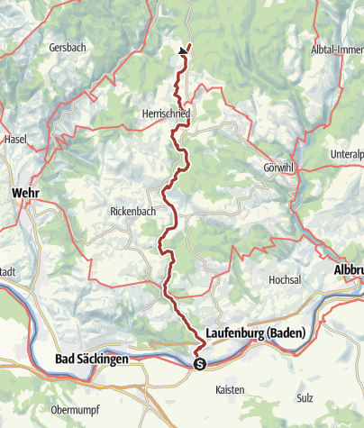 Karte / Murg: Murgtalpfad