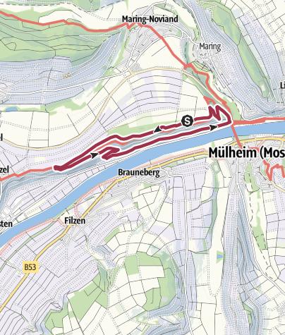 Karte / Ferienland-Wanderweg - Jufferweg - Brauneberg