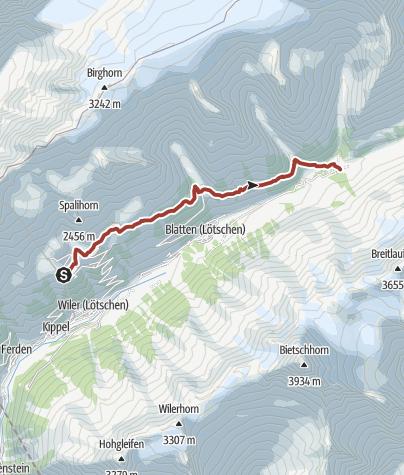 Map / Lötschental Legend Trail