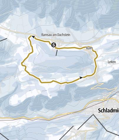 Karte / Kulmbergrunde Pferdeschlittenweg