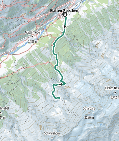 Map / Bietschhorn Hut (from Blatten)