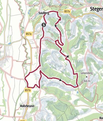 Map / Rundwanderweg Burgauberg