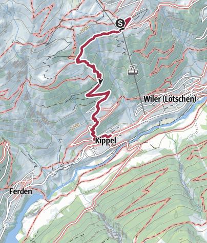 Map / Kippel - Lauchernalp