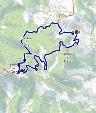 Karte / Wanderung von Wieden zum Belchen