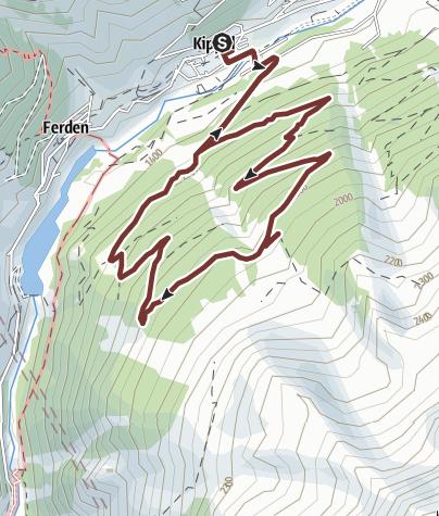 Karte / Gebirgswald Rundgang