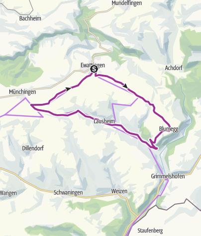Karte / RouteWT 8b - Kurztour Wutach