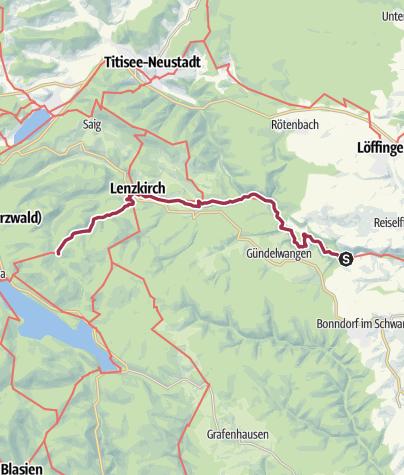 Karte / Schluchtensteig Etappe 3 von der Schattenmühle nach Fischbach-Schluchsee