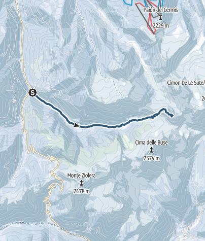 Map / Cima delle Stellune